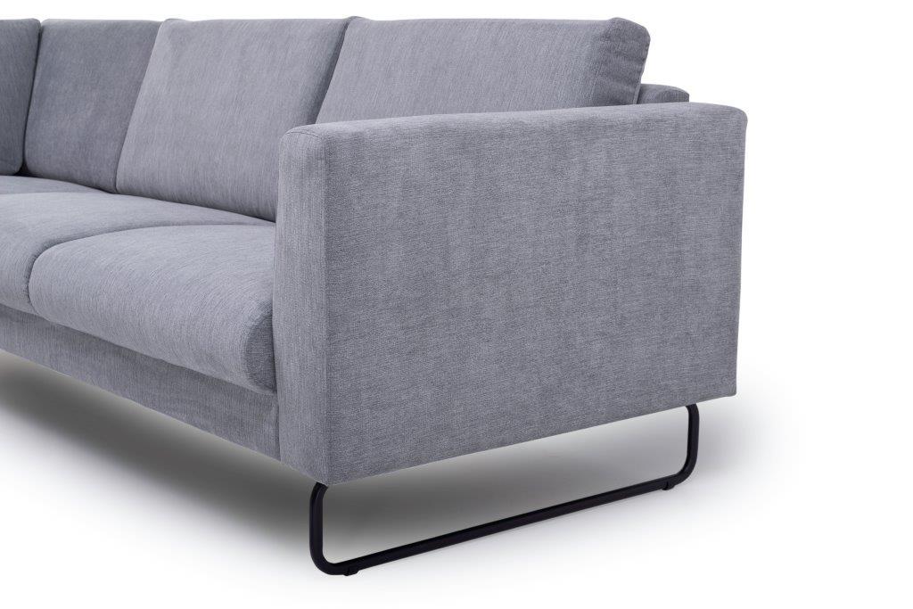 MARIO 2+90+2,5 (ORINOCO 3-1 light grey) arm+leg softnord soft nord scandinavian style furniture modern interior design sofa bed chair pouf upholstery