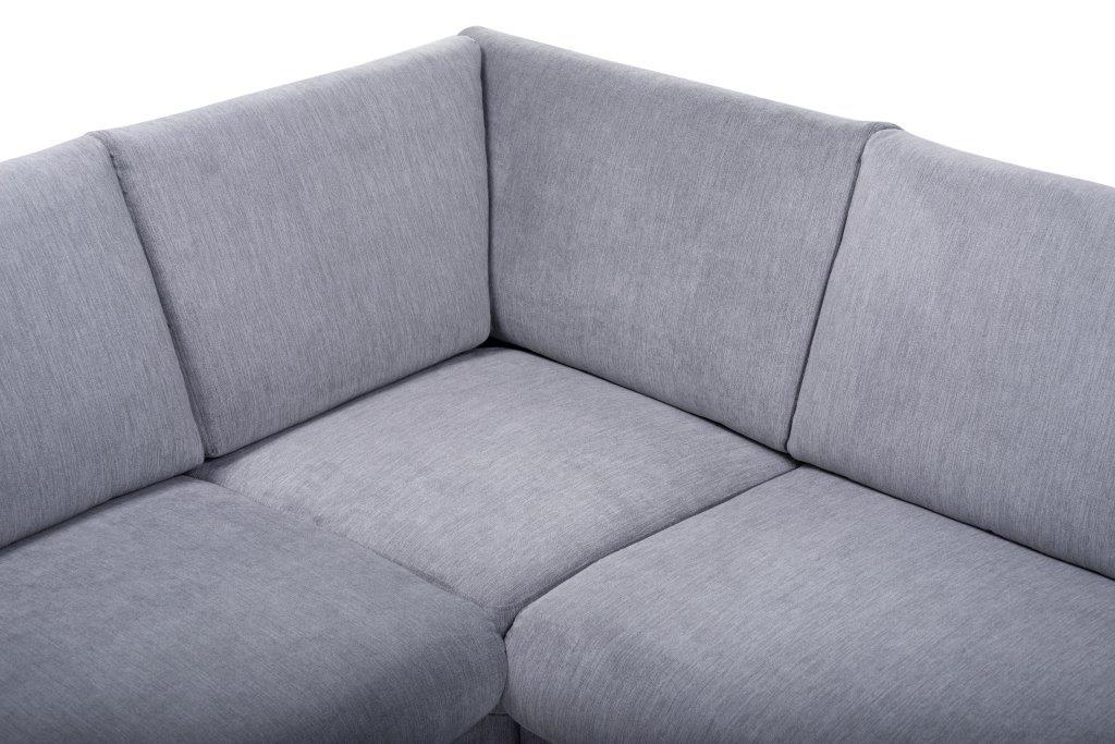 MARIO 2+90+2,5 (ORINOCO 3-1 light grey) detail softnord soft nord scandinavian style furniture modern interior design sofa bed chair pouf upholstery