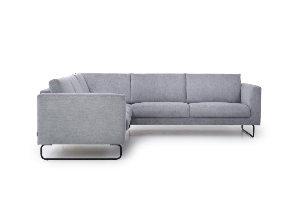 MARIO 2+90+2,5 (ORINOCO 3-1 light grey) front softnord soft nord scandinavian style furniture modern interior design sofa bed chair pouf upholstery