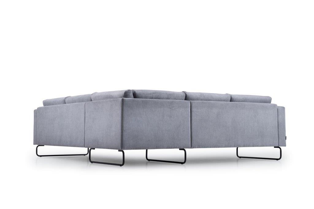 MARIO 2+90+2,5 (ORINOCO 3-1 light grey) low back softnord soft nord scandinavian style furniture modern interior design sofa bed chair pouf upholstery