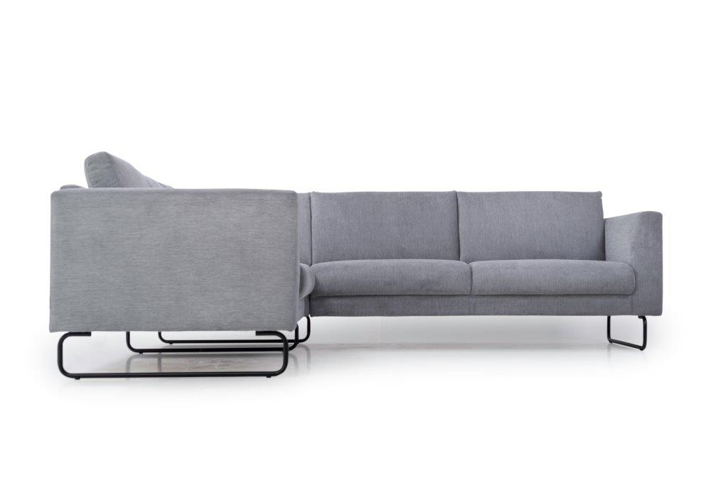 MARIO 2+90+2,5 (ORINOCO 3-1 light grey) low front softnord soft nord scandinavian style furniture modern interior design sofa bed chair pouf upholstery