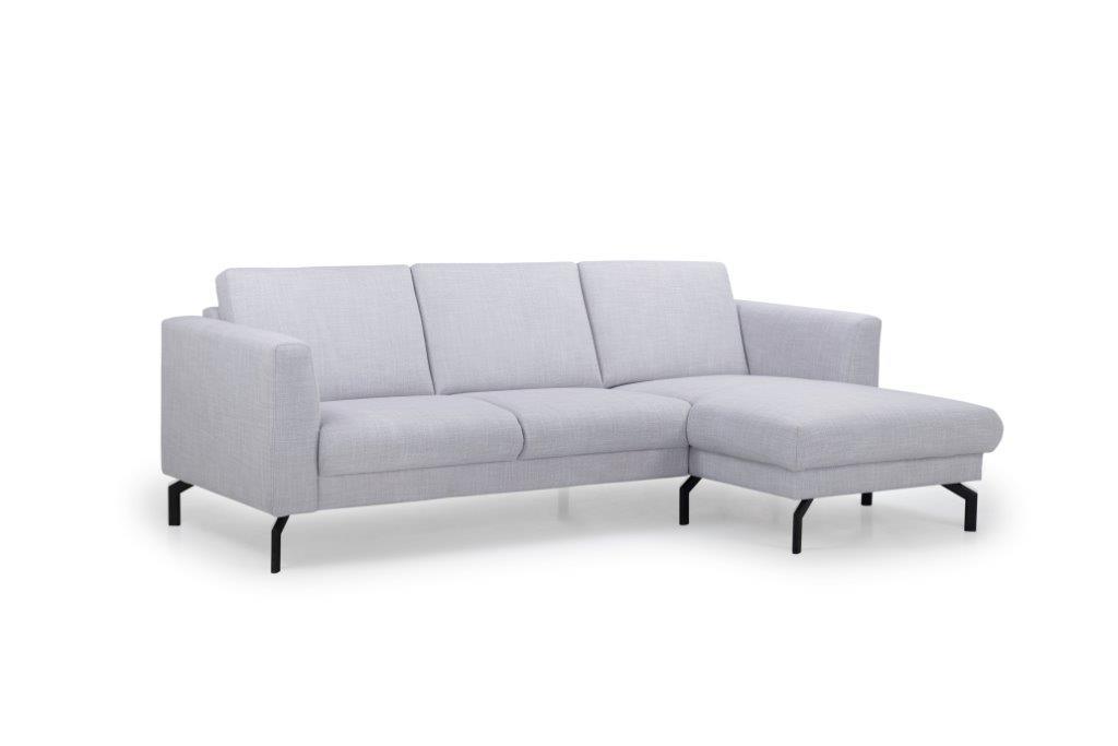 MARIO chaiselongue with 2,5 seater (BERGAMO 22 silver) side softnord soft nord scandinavian style furniture modern interior design sofa bed chair pouf upholstery