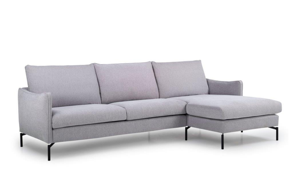 NEW YORK big chaiselongue with 3 seater (SHOWA 22 silver) side softnord soft nord scandinavian style furniture modern interior design sofa bed chair pouf upholstery