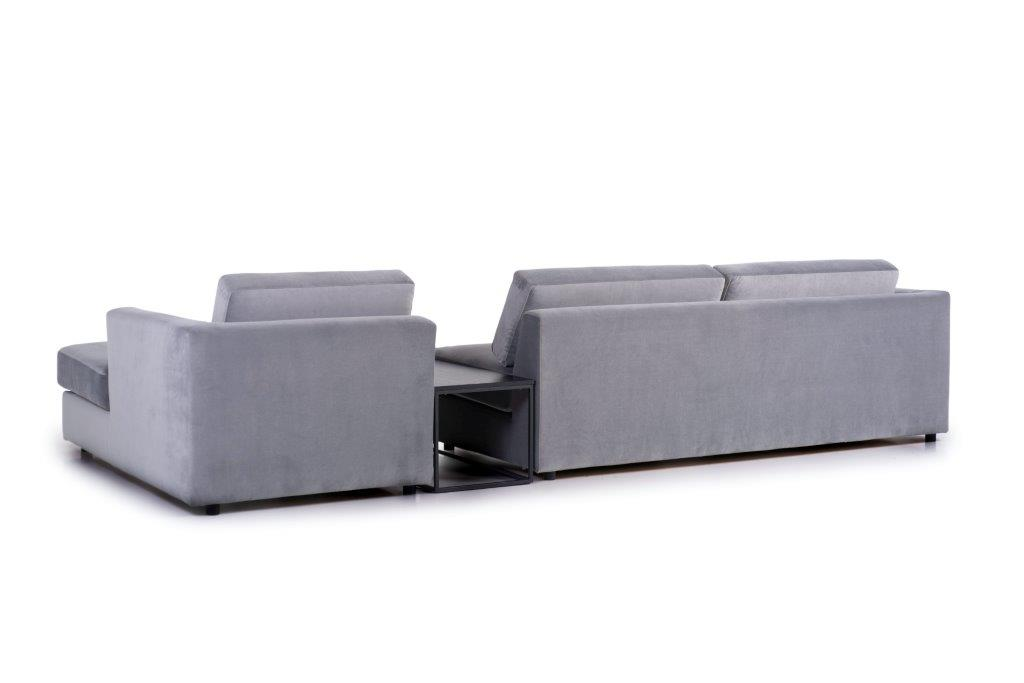 ORLANDO 3+table+chaiselongue (TRENTO 3 grey) back softnord soft nord scandinavian style furniture modern interior design sofa bed chair pouf upholstery