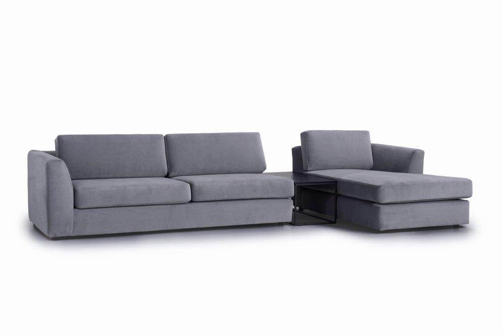 ORLANDO 3+table+chaiselongue (TRENTO 3 grey) side softnord soft nord scandinavian style furniture modern interior design sofa bed chair pouf upholstery