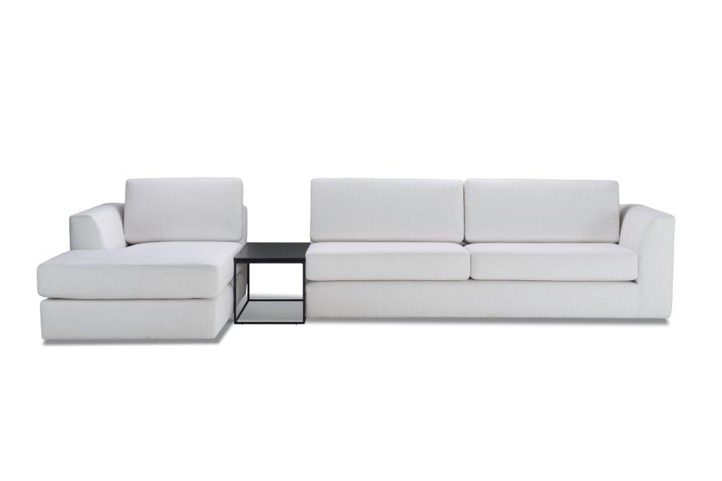 ORLANDO chaiselongue+table+3st (Mattis 99 snow) softnord soft nord scandinavian style furniture modern interior design sofa bed chair pouf upholstery