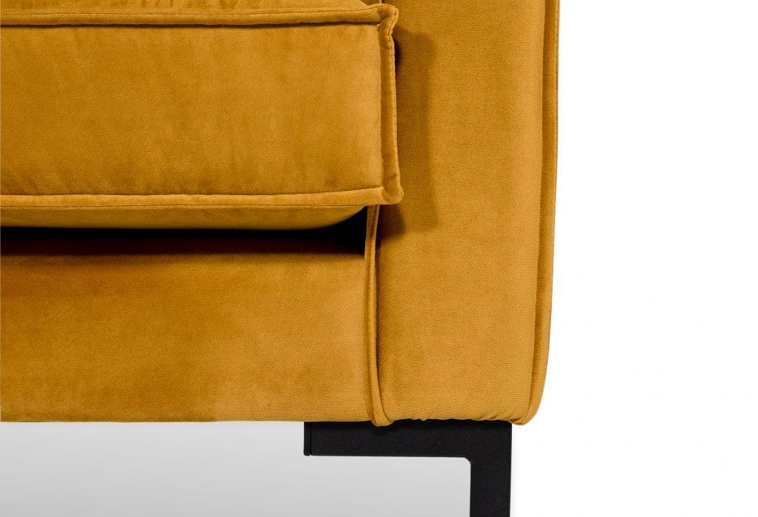 PREGO 3 seater (RIVIERA 21 mustard) arm+leg