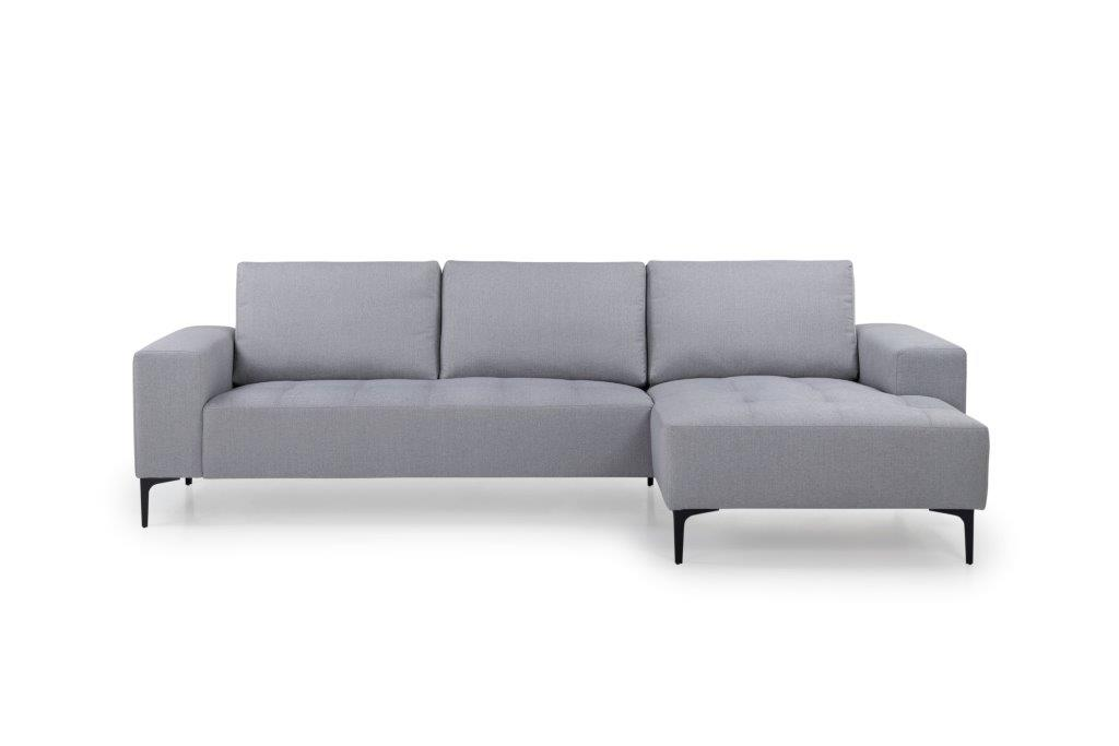 THOMAS chaiselongue with 2,5 seater (FAME 22 silver) front