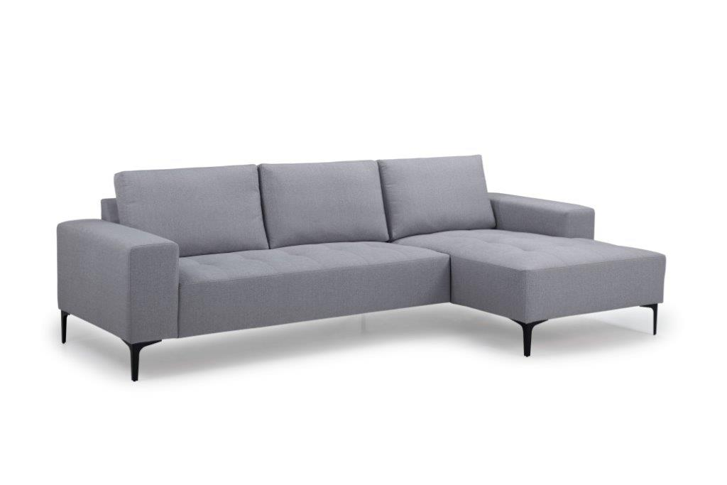 THOMAS chaiselongue with 2,5 seater (FAME 22 silver) side