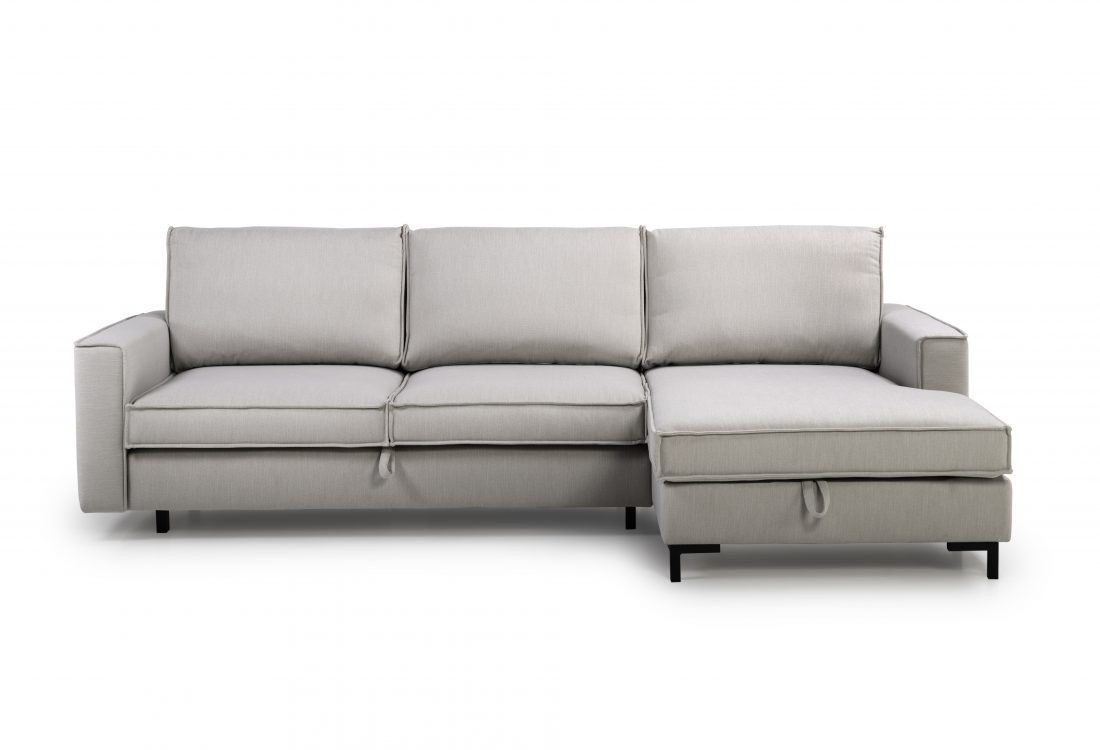 COPENHAGEN SLEEPING chaiselongue with 2 seater (BULOVA 22 silver) front
