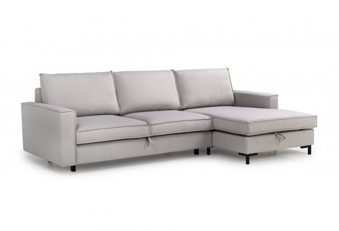 COPENHAGEN SLEEPING chaiselongue with 2 seater (BULOVA 22 silver) side