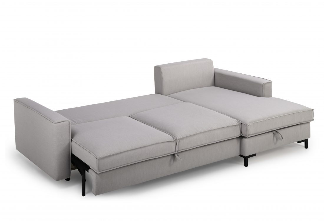 COPENHAGEN SLEEPING chaiselongue with 2 seater (BULOVA 22 silver) sleeping detail