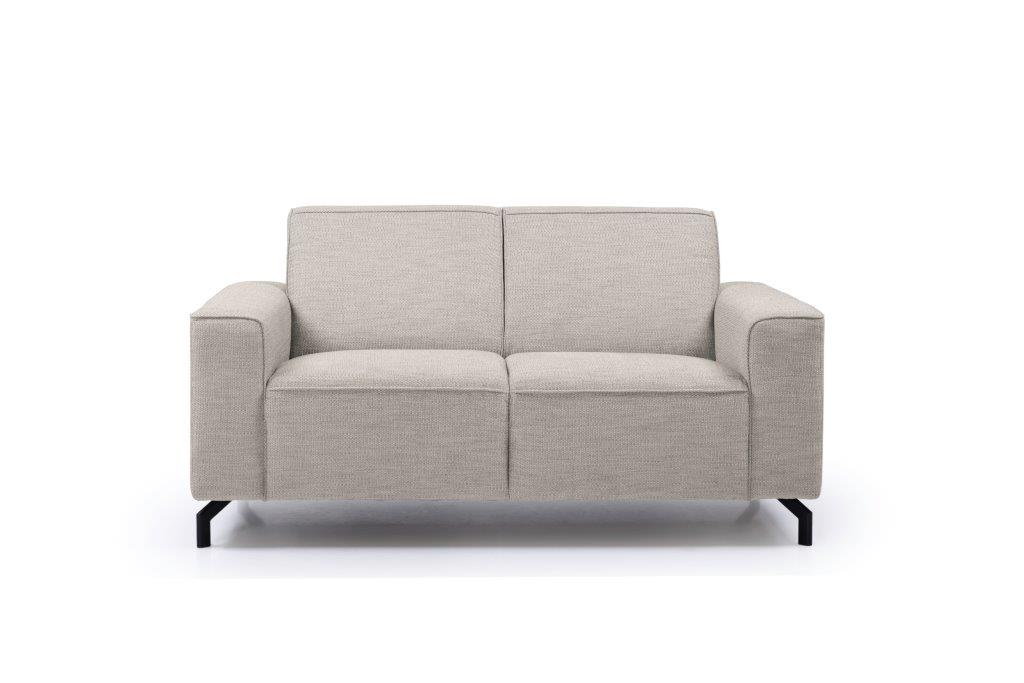 LESLY 2 seater (RAMIRA 14 latte) front softnord soft nord scandinavian style furniture modern interior design sofa bed chair pouf upholstery