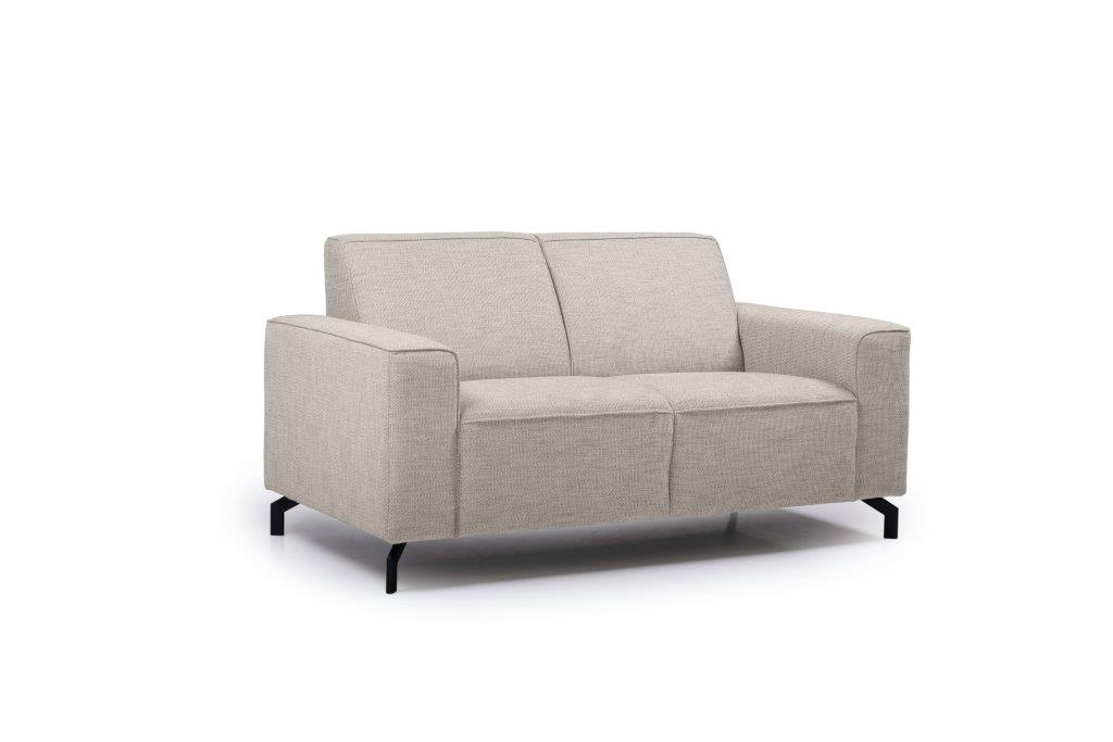 LESLY 2 seater (RAMIRA 14 latte) side softnord soft nord scandinavian style furniture modern interior design sofa bed chair pouf upholstery