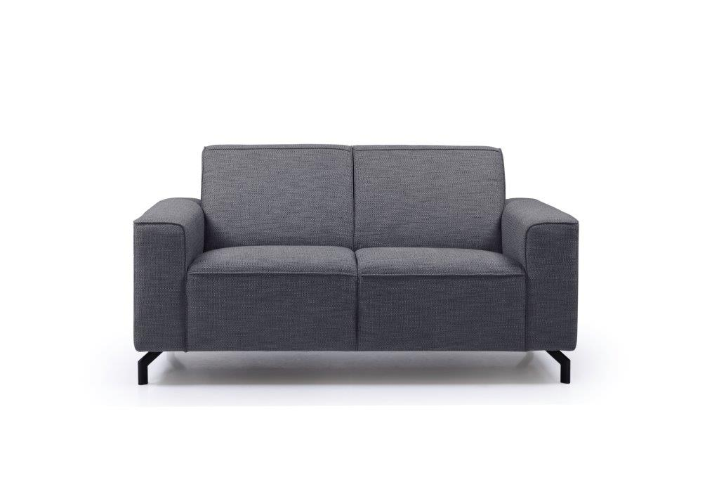 LESLY 2 seater (RAMIRA 7 antrazite) front softnord soft nord scandinavian style furniture modern interior design sofa bed chair pouf upholstery