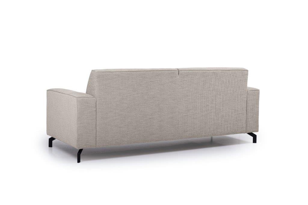 LESLY 3 seater (RAMIRA 14 latte) back softnord soft nord scandinavian style furniture modern interior design sofa bed chair pouf upholstery