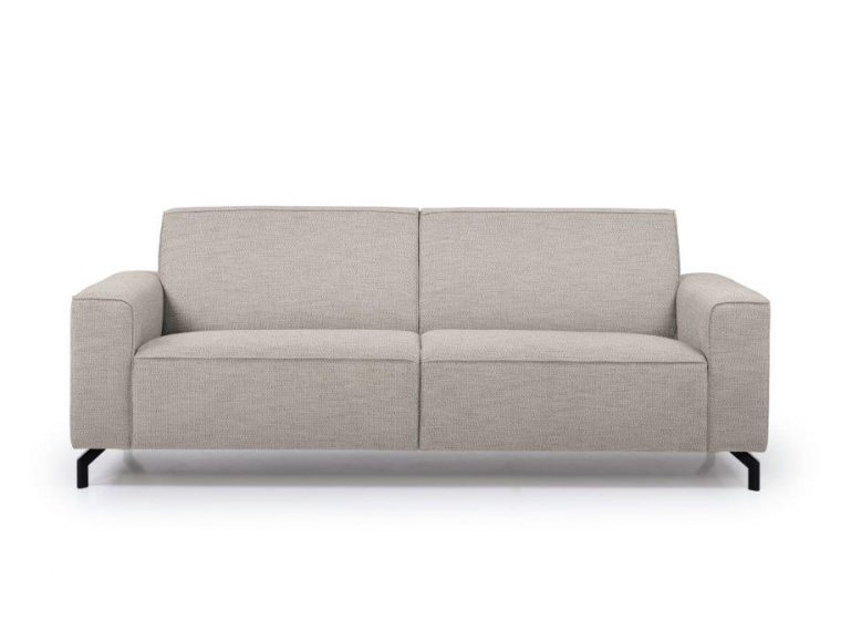 LESLY 3 seater (RAMIRA 14 latte) front softnord soft nord scandinavian style furniture modern interior design sofa bed chair pouf upholstery