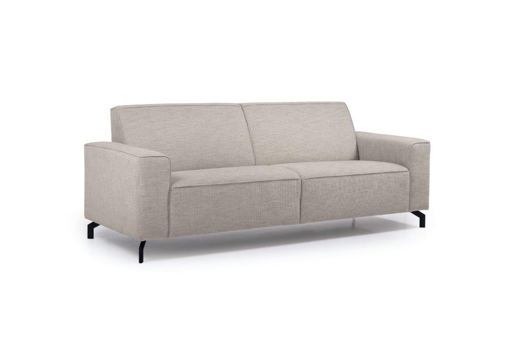 LESLY 3 seater (RAMIRA 14 latte) side softnord soft nord scandinavian style furniture modern interior design sofa bed chair pouf upholstery