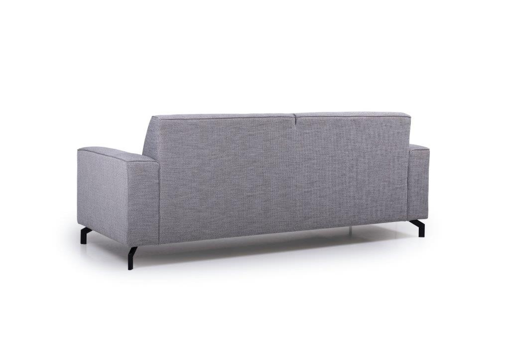 LESLY 3 seater (RAMIRA 3 grey) back softnord soft nord scandinavian style furniture modern interior design sofa bed chair pouf upholstery