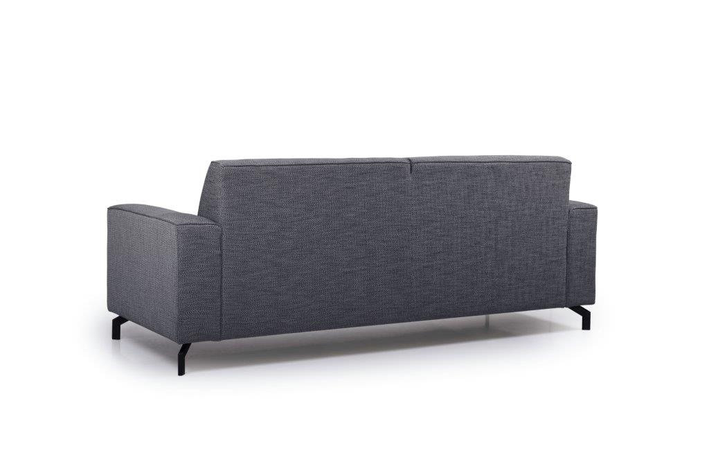 LESLY 3 seater (RAMIRA 7 antrazite) back softnord soft nord scandinavian style furniture modern interior design sofa bed chair pouf upholstery