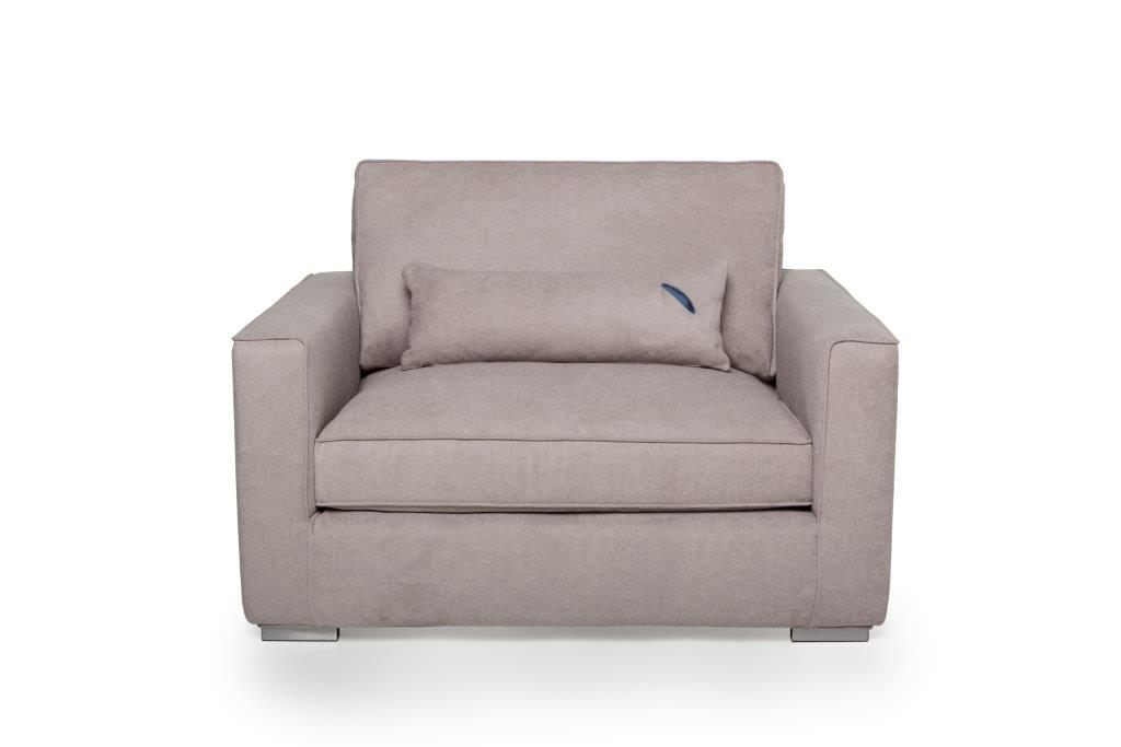 LORRA 1.5 seater (LANA 14 latte) softnord soft nord scandinavian style furniture modern interior design sofa bed chair pouf upholstery
