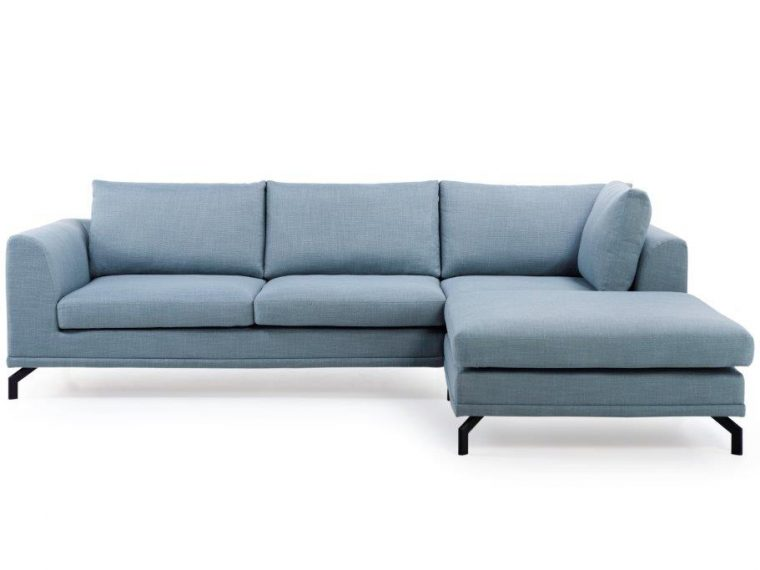 MONTINO 2+90+pouf (BERGAMO 29 sapphire) front softnord soft nord scandinavian style furniture modern interior design sofa bed chair pouf upholstery