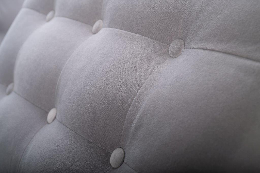 PORTO back cushion with buttons (TRENTO 3.1 light grey) softnord soft nord scandinavian style furniture modern interior design sofa bed chair pouf upholstery