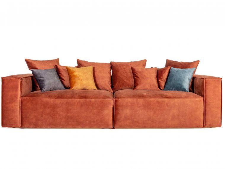 DIESEL 3 seater (1,5+1,5) scatter cushions (FUJI 20.2 dark oran