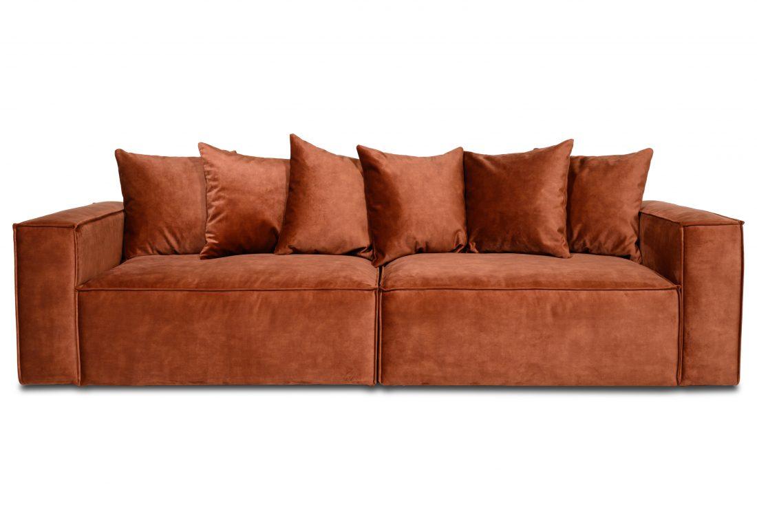 DIESEL 3 seater (1,5+1,5) scatter cushions (FUJI 20.2 dark orange) front