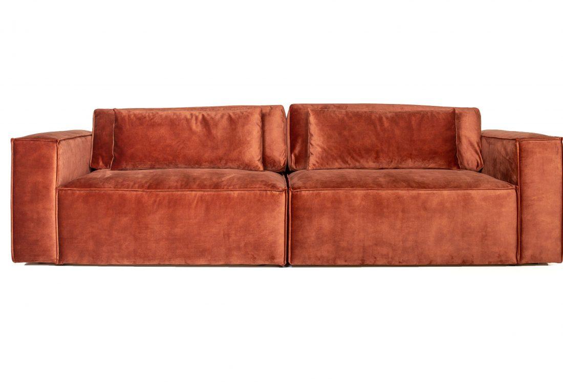 DIESEL 3 seater (FUJI 20.2 dark orange) front