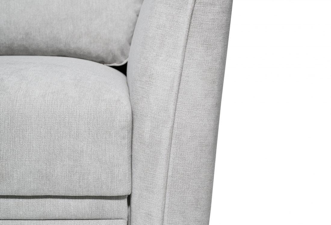 ETNA SLEEPING chaiselongue with 2 seater arm A (ORINOCO 22.1 light silver) arm