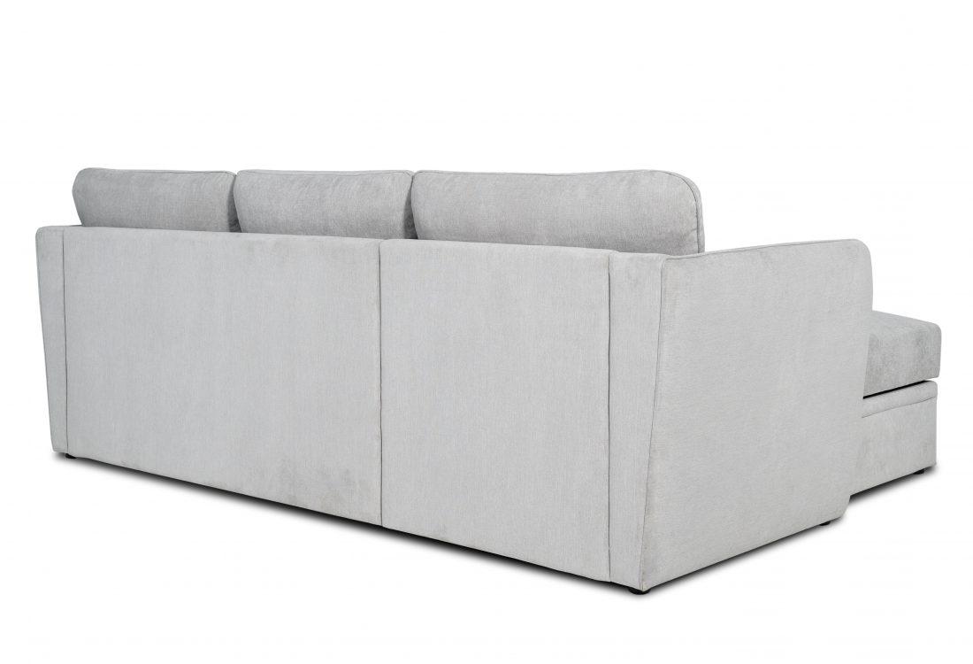 ETNA SLEEPING chaiselongue with 2 seater arm A (ORINOCO 22.1 light silver) back
