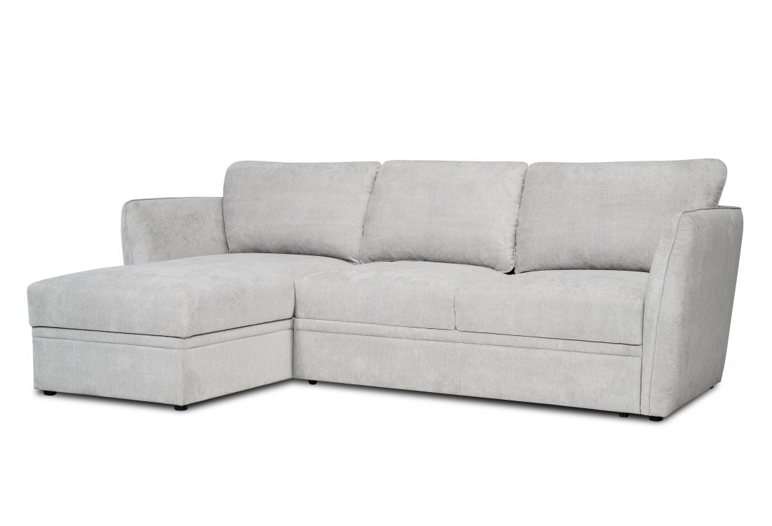 ETNA SLEEPING chaiselongue with 2 seater arm A (ORINOCO 22.1 light silver) side