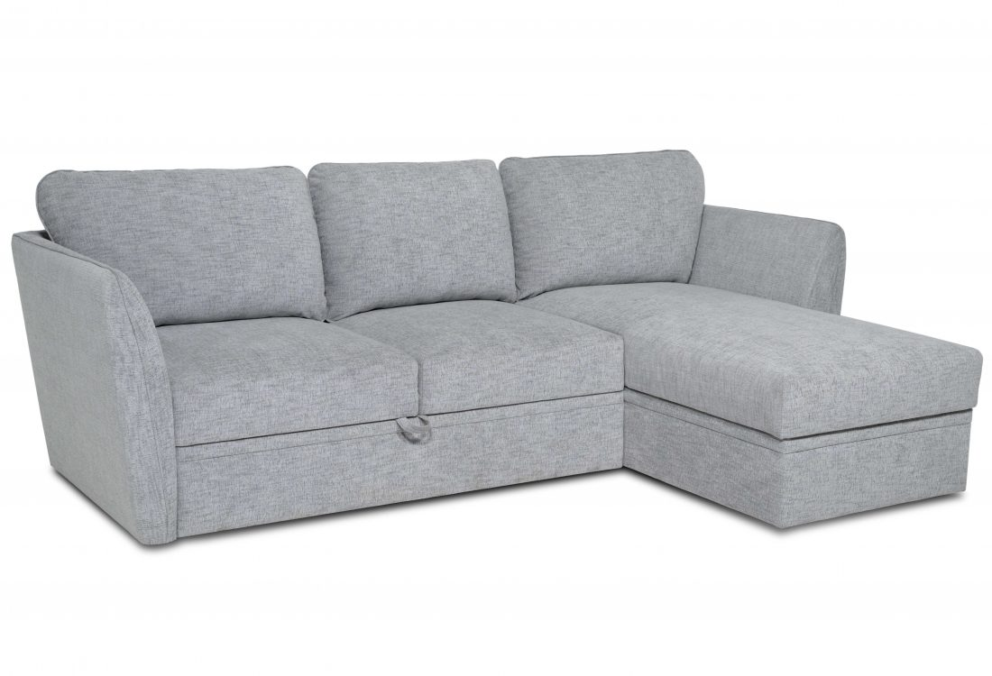 ETNA chaiselongue with 2 seater (WAY 3.1 light grey) side