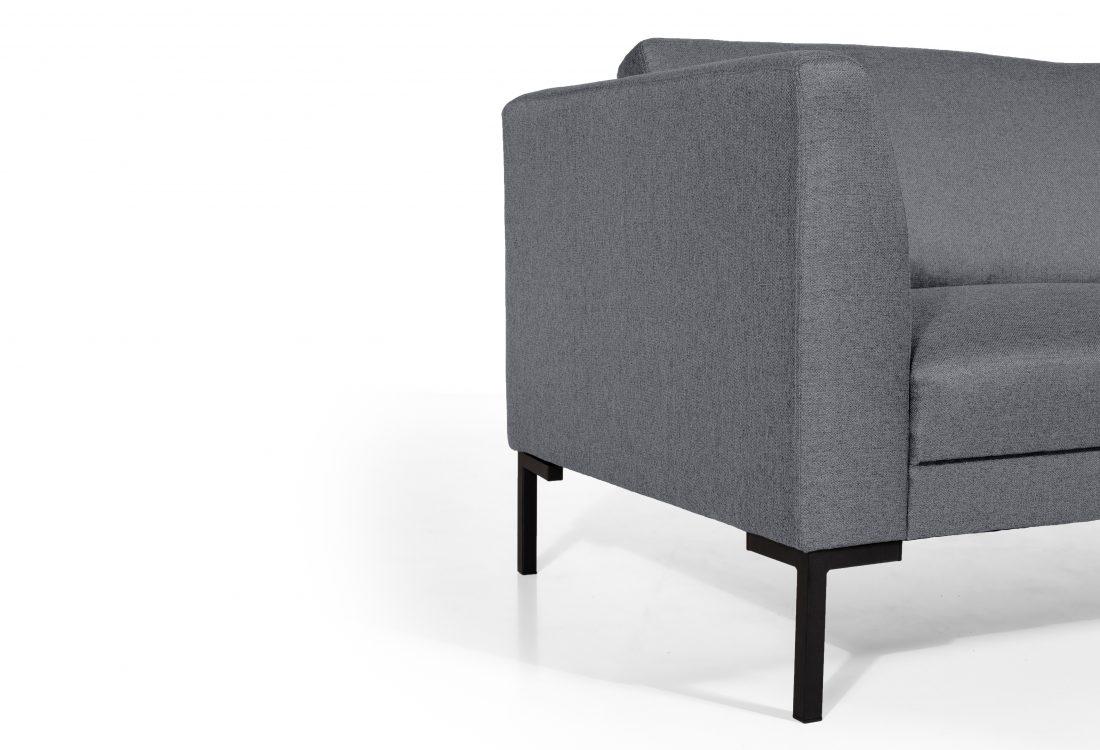 KERY 3 seater (MALMO 3.1 light grey) arm+leg