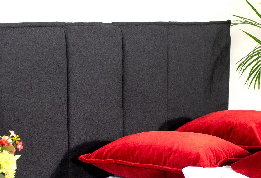 LEE BED (black) headboard interior