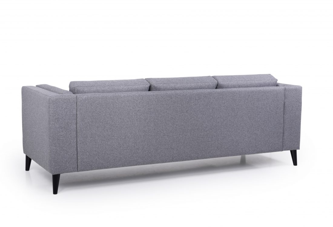 MESSI 3 seater (GOLF 3 grey) back