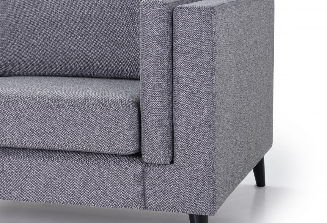 MESSI open corner with 3 seater (GOLF 3 grey) arm+leg