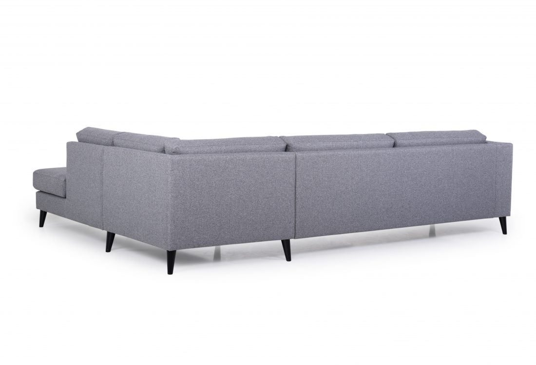MESSI open corner with 3 seater (GOLF 3 grey) back