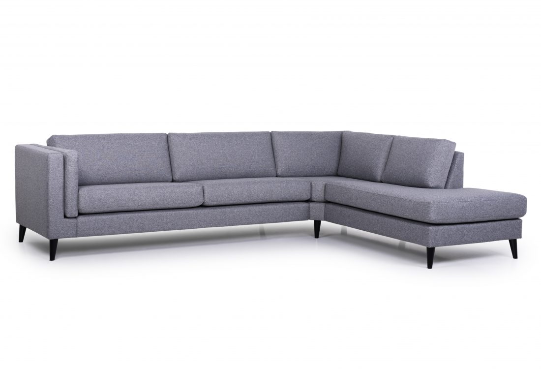 MESSI open corner with 3 seater (GOLF 3 grey) side
