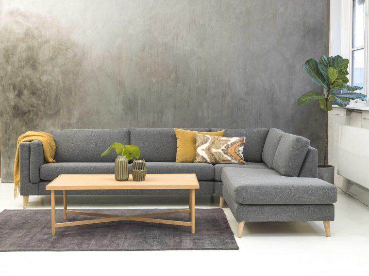 Copenhagen sofabord v.0165904  Scottsdale teppe 160x230 Dark grey vnr. 8946156