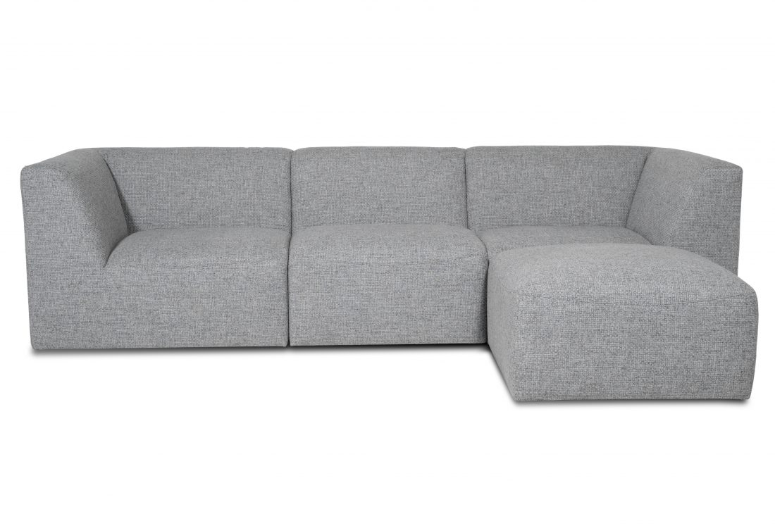 MOVE 3 seater + pouf (Forza 5510 antrazite) front