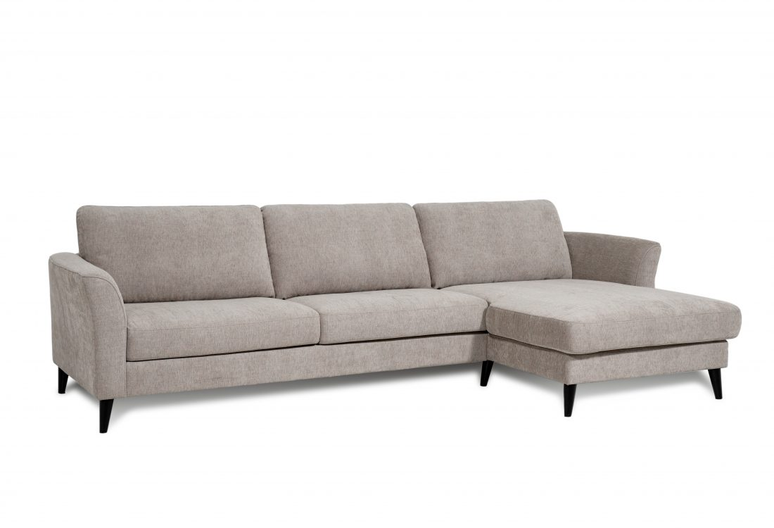 NINA chaiselongue with 3 seater (XAPHOON 9 cappuccino) side